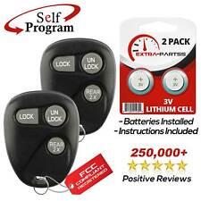 Set of 2 Car Key Fob Keyless Entry Remote fits 1999 2000 Chevrolet Suburban Tahoe // GMC Yukon // Cadillac Escalade 16245100-29
