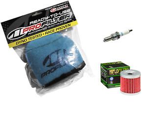 Tune Up Kit HF139 OIL + Air Filter NGK CR7E Spark Plug For Suzuki DRZ 400 E S SM