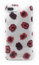 PLUS Kate Spade Protective Cover iPhone PLUS 8 7 6s 6 Poppy Red Poppies Clear