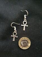 Ankh Earrings Egyptian Life Cross Symbol of Eternal Life Earrings Tibetan Silver