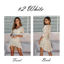 Women Bandage Bodycon Long Sleeve Evening Party Cocktail Lace Short Dress