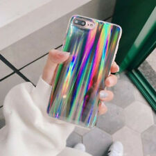 For iPhone 8 Plus 7 6s X Holographic Glitter Bling Shiny Shockproof Cover Case