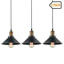 Farmhouse Industrial 3 Mini Ceiling Hanging Light Metal Black Pendant Lighting