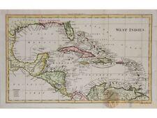 West Indies Antique map Caribbean Islands by Walker 1810