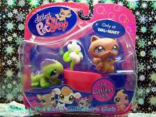 Littlest Pet Shop Walmart Excl IGUANA #712 RACCOON #713 Rare Retired NIB 2008