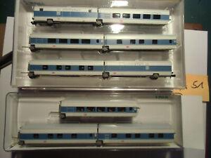 Minitrix Talgo Nachtzug 13723 und Ergänzungsset 13724 (A 51)