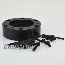 Fit MOMO OMP aftermarket steering wheel BLACK boss kit 25mm spacer adapter New