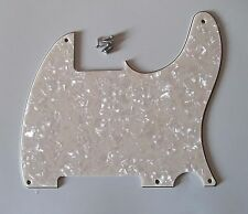 5 Holes Tele/Telecaster Pickguard Scratch Plates for Esquire Aged Pearl 3 Ply