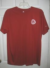 Adidas Classic Red Adidas Large ClimaLite Performance Workout Shirt