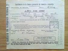 DOCUMENTO CONTRIBUCION MUNICIPAL MURCIA.CIEZA,1933