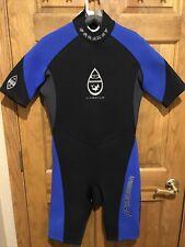 Mens Wetsuit Parkway Large 2.5mm Titanium Shorty Wet Suit L Spring Black Blue LG