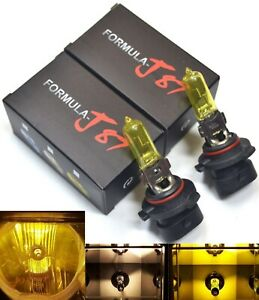 Rally 9005XS HB3A 100W 3000K Yellow Two Bulbs Head Light High Beam Replacement
