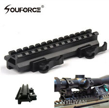 Quick release Riser Mount Doual Rail 20mm Picatinny Rail base for Rifle Hunting