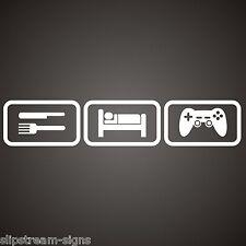 Eat Sleep Game Vinyl Sticker  Car Graphics Laptop Bedroom, Console Gamertag