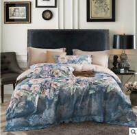 3D Elegant Blue Floral Pattern KEP2808 Bed Pillowcases Quilt Duvet Cover Kay