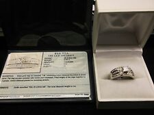 1.00 TCW PRINCESS CUT EGL CERTIFIED WEDDING SET IN WHITE GOLD W/ACCENTS