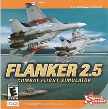 FLANKER 2.5 Combat Flight Simulator PC Game Plane Jet Aircraft Mig-29K Su-27 NEW