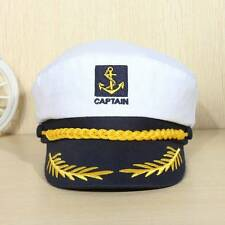 Unisex Skipper Ship Sailor Navy Yacht Military Captain Nautical Hat Cap Costume