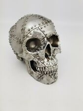 Rivet Head 19cm Nemesis Now Ornament Skull Steel Metal Gothic Gift New & Boxed