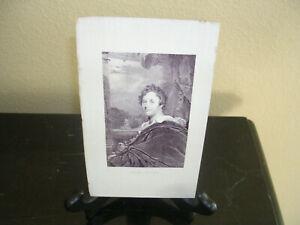 HENRY VIZETELLY  ORIGINAL 1800s   LORD BYRON  ENGRAVING
