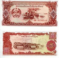 LAOS 20 Kip Banknote World Paper Money UNC Currency Pick p28a Note Bill (Lao)