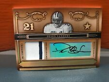 2006 Playoff National Treasures Deion Sanders Auto & Patch 1/1 His Jersey Number