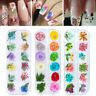 Hot 3D Real Dried Dry Flowers Nail Art Decoration Design DIY Tips Manicure