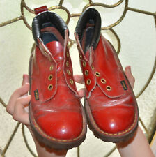 Dr. Martens Red Patent Leather Boots Youth Unisex Boy Girl Size 2