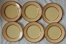 A'/ Lot de 6 assiettes plates (22 cm) décor perlé (Longchamp?)