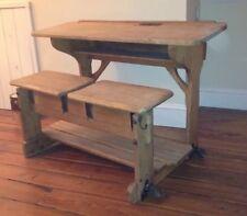 Vintage English Pine Furniture Antique German School Desk Cabinet ~ Rare