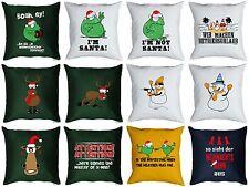Lustiges Deko Kissen Weihnachten - Weihnachtsdeko - Weihnachts Motiv Kissen