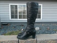 Women's Born Knee High Leather Harness Boots Size 11