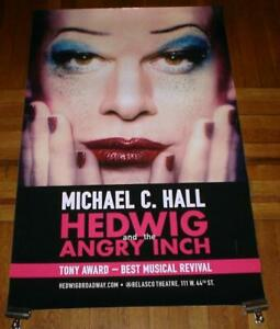 HEDWIG AND THE ANGRY INCH BROADWAY NYC MICHAEL C HALL 4FT subway POSTER #1