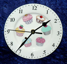 Cupcake wall clock porcelain wall clock with different cupcakes - gift  boxed