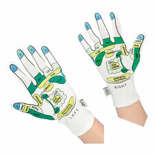 GLOVES REFLEXOLOGY MASSAGE MOISTURISING SPA ONE SIZE GIFT COTTON SPANDEX HEALTH