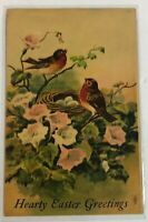 Vintage Postcard Hearty Easter Greeting Card 1910 Nesting Birds