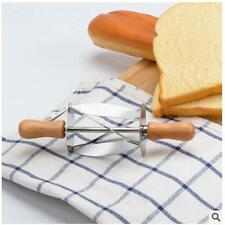 EXPEDITE Stainless Steel Wooden Rolling Croissant Dough Pastry Cutter New -s