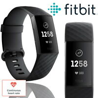 Fitbit Charge 3 Fitness Tracker Activity Band Black Waterproof Heart Rate Watch