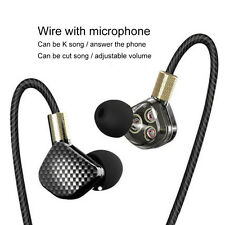 YINJW P8 Three Dynamic Driver HIFI Bass In Ear Earphone Earbuds Monitor Headset