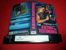 The Last Witness VHS PAL 1st ORIGINAL PORTUGAL OOP NO IMDB RARE 80S NASTY ACTION