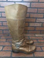 Michael Kors Knee High Boots Cognac Size 5.5