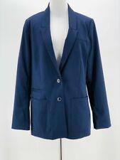 H&M Women's Navy Blue Double Button Down Long Sleeve Blazer Jacket Size 12