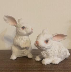Pair Of Boehm rabbits