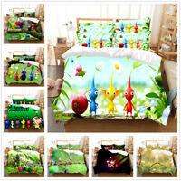 3D Pikmin Game Duvet Cover Kids Bedding Set Comforter/Quilt Cover Pillow Case