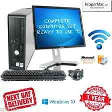 """Juego de PC de Dell Windows 7 Intel 2X3GHZ de 6 GHz CPU 500 GB HD 19"""" in TFT 8 GB DDR3 Wi-fi"""