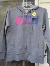 WOMENS LIFE IS GOOD L/S HOODED DARK GREY SWEATSHIRT SIZE MEDIUM ***NWT  LOVE**