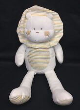 "Natures Purest Sleepy Safari Lion 18"" Plush Cream Green Stripes Baby Lovey"