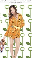 156. New Key Leaf London Insect Collection Silk Romper $290 M