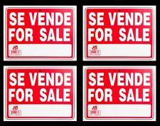 "4 SE VENDE - FOR SALE   Flexible Heavy  Plastic Sheet   9""x12"" - 4 Sign"