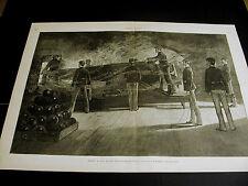 Zogbaum FIRING GUN CANNONBALLS in OLD CASEMATE FORT 1887 Lg Print & FULL STORY